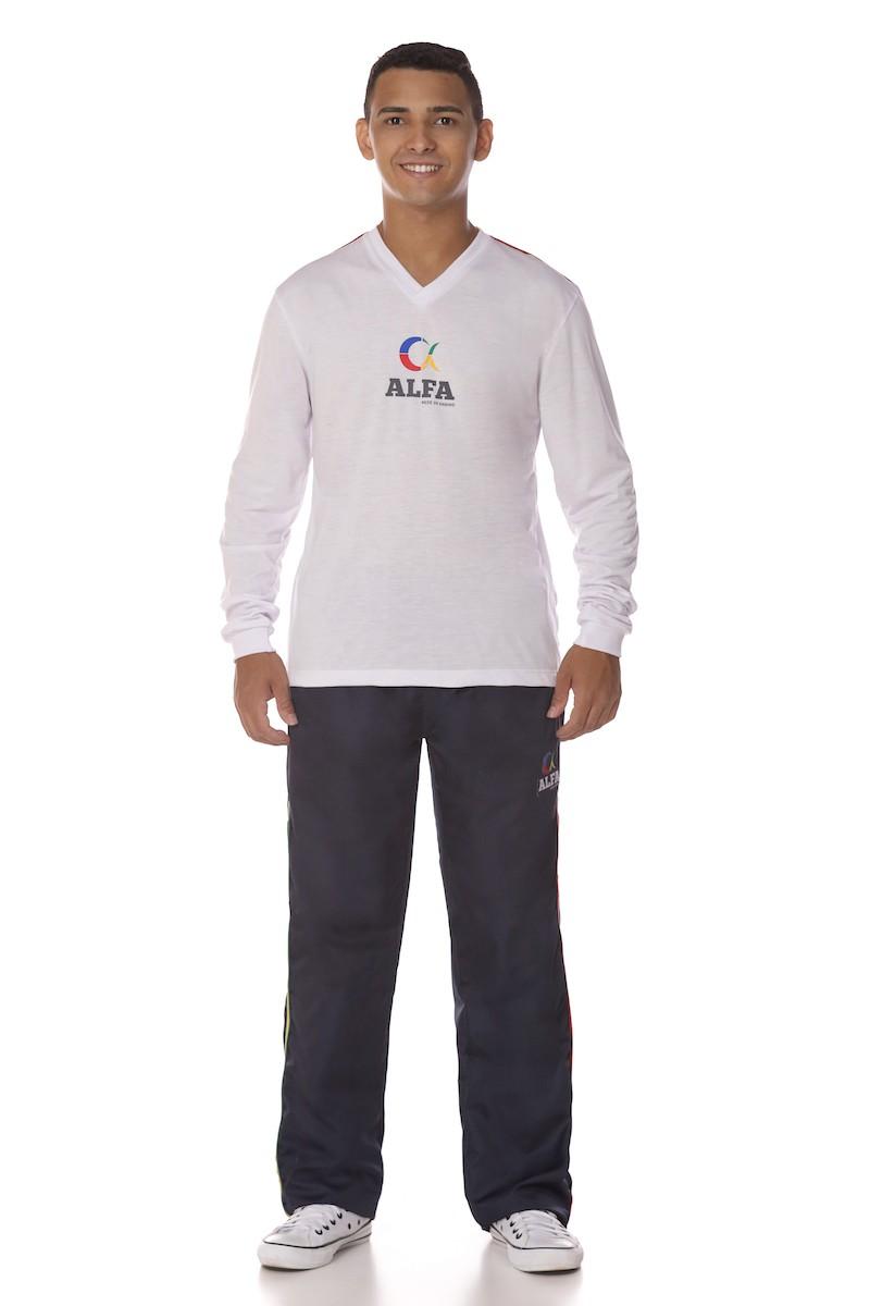 Camiseta Manga Longa PV - Colégio Alfa Tesla