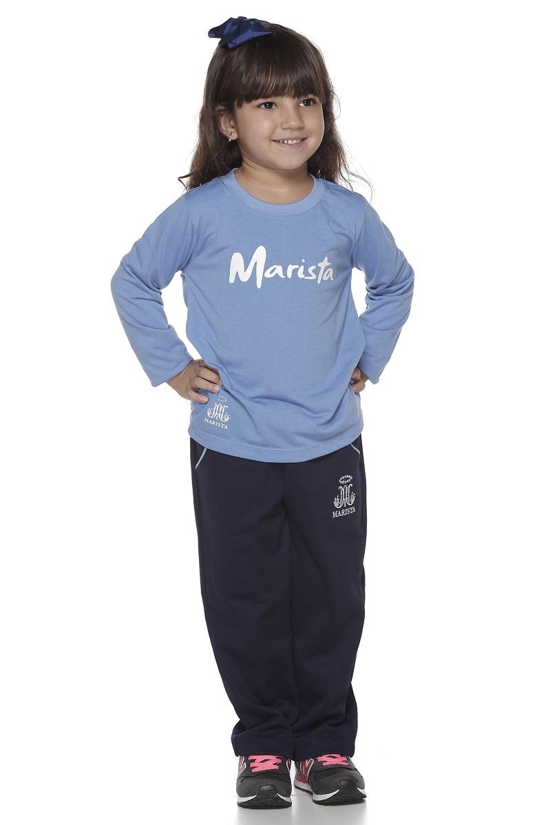 Camiseta Manga Longa PV Colégio Marista Infantil