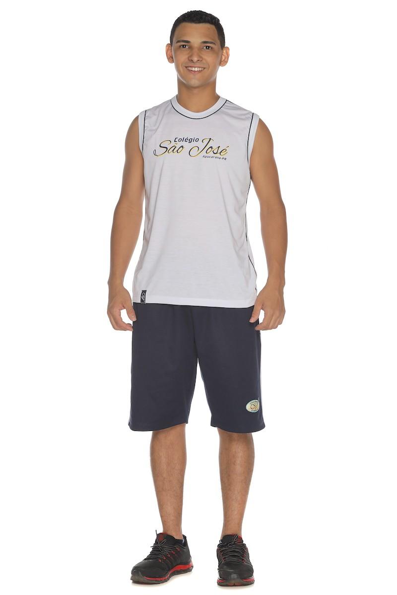 Camiseta PV Sem Manga Branco -  São José