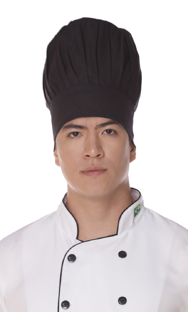 Chapéu Chef Cozinheiro Mestre Preto