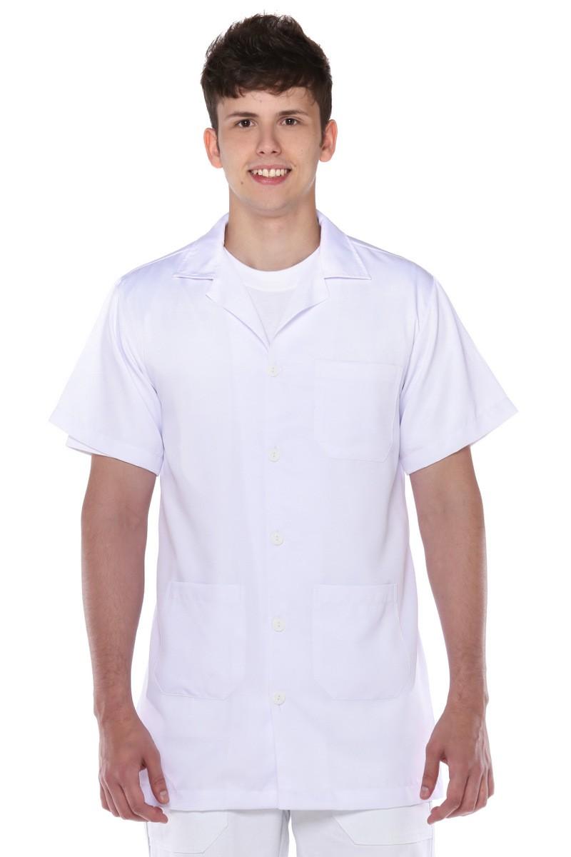 Jaleco Manga Curta De Wolker Branco Masculino