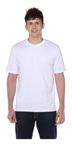 Kit 10 Camiseta Manga Curta Branca 100% Poliéster Masculina