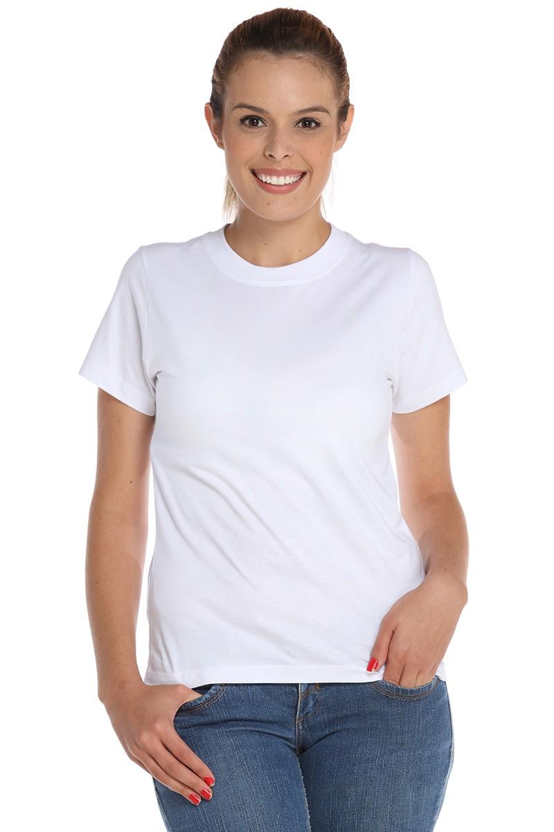 Kit 20 Camiseta Babylook Branca 100% Poliéster Feminina