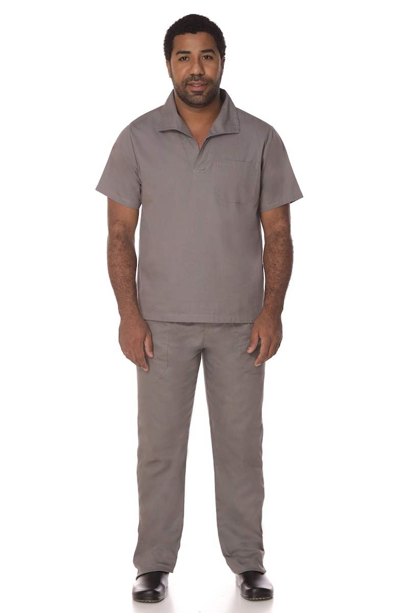 Kit Calça + Camisa Operacional de Brim Cinza