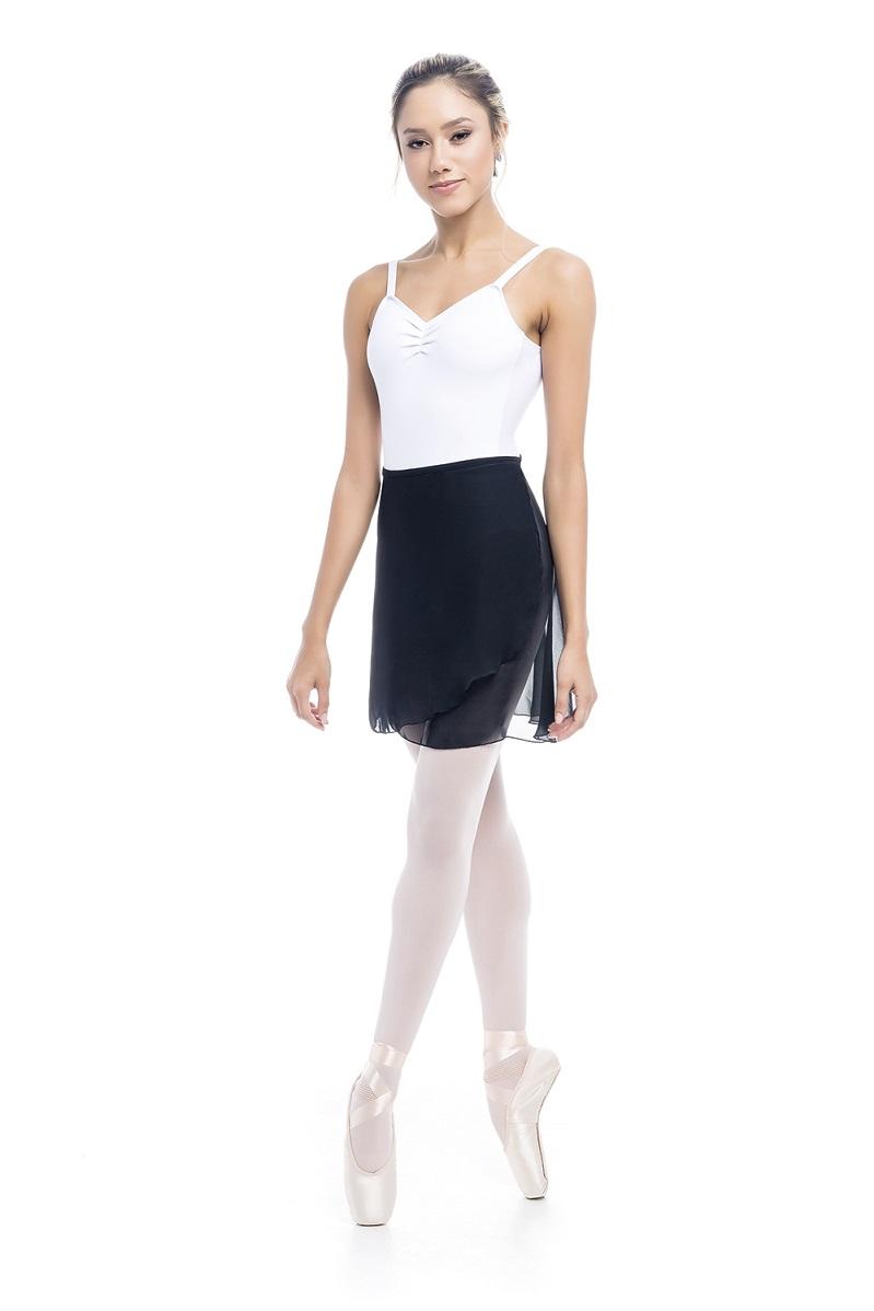 Saia Bailarina com Costas Alongada Crepe - SD 5173