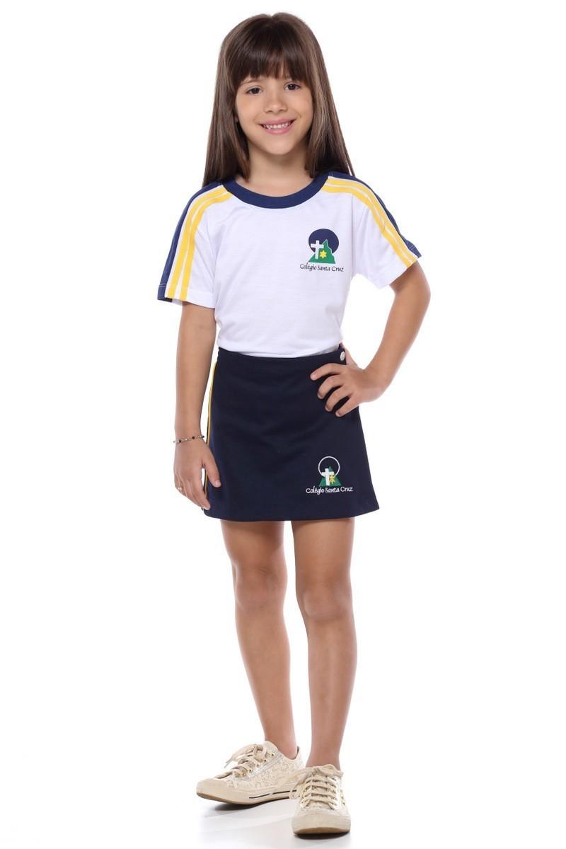 Short Saia Malha Colegial Colégio Santa Cruz