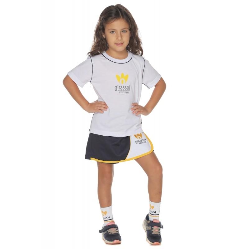 Short - Saia Malha Colegial - Girassol