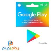 GIFT CARD GOOGLE PLAY R$ 100  REAIS