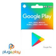 GIFT CARD GOOGLE PLAY R$ 200 REAIS