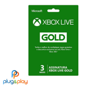 GIFT CARD XBOX LIVE GOLD 3 MESES