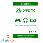 GIFT CARD XBOX LIVE R$ 10 REAIS
