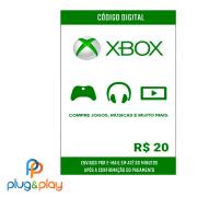 GIFT CARD XBOX LIVE R$ 20 REAIS