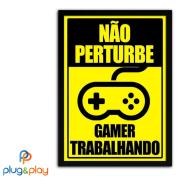 QUADRO PERSONALIZADO MÉDIO GAMER (NÃO PERTURBE)