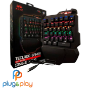 TECLADO KNUP GAMER KP-TM003 SINGLE HAND MECÂNICO