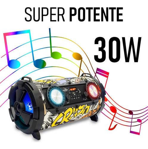CAIXA DE SOM BLUETOOTH PORTATIL 30W D-P11 - GRASEP