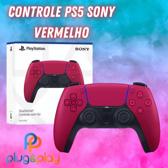 CONTROLE PARA PS5 ORIGINAL SONY COR VERMELHO