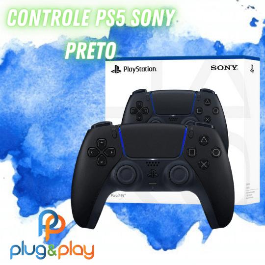 CONTROLE PARA PS5 SONY ORIGINAL COR PRETO