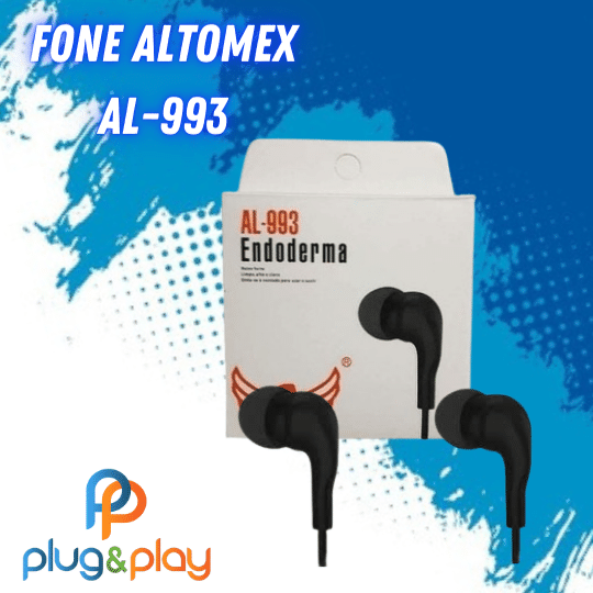 FONE DE OUVIDO INTRA-AURICULAR ALTOMEX AL-993