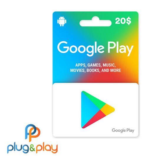 GIFT CARD GOOGLE PLAY R$ 20 REAIS