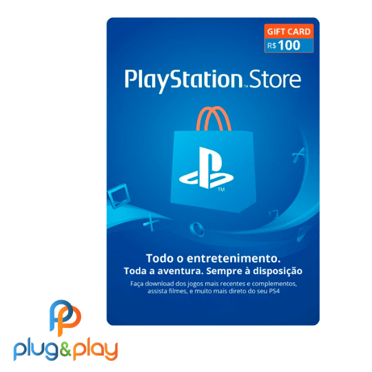 GIFT CARD PLAYSTATION STORE  R$100 REAIS