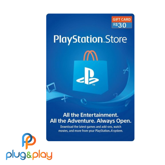 GIFT CARD PLAYSTATION STORE  R$30 REAIS