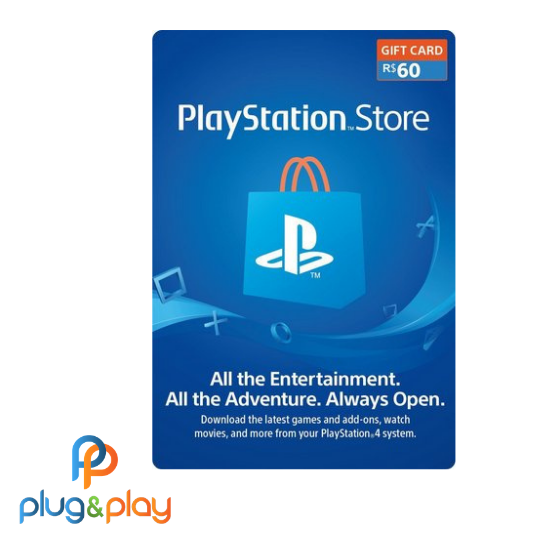 GIFT CARD PLAYSTATION STORE R$ 60  REAIS