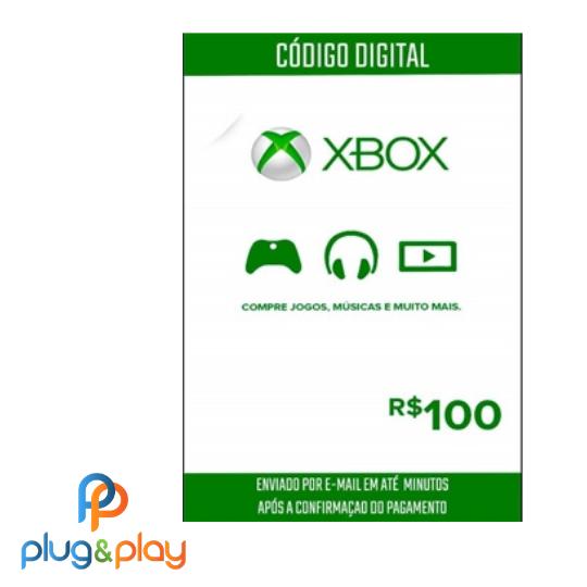 GIFT CARD XBOX LIVE R$ 100 REAIS