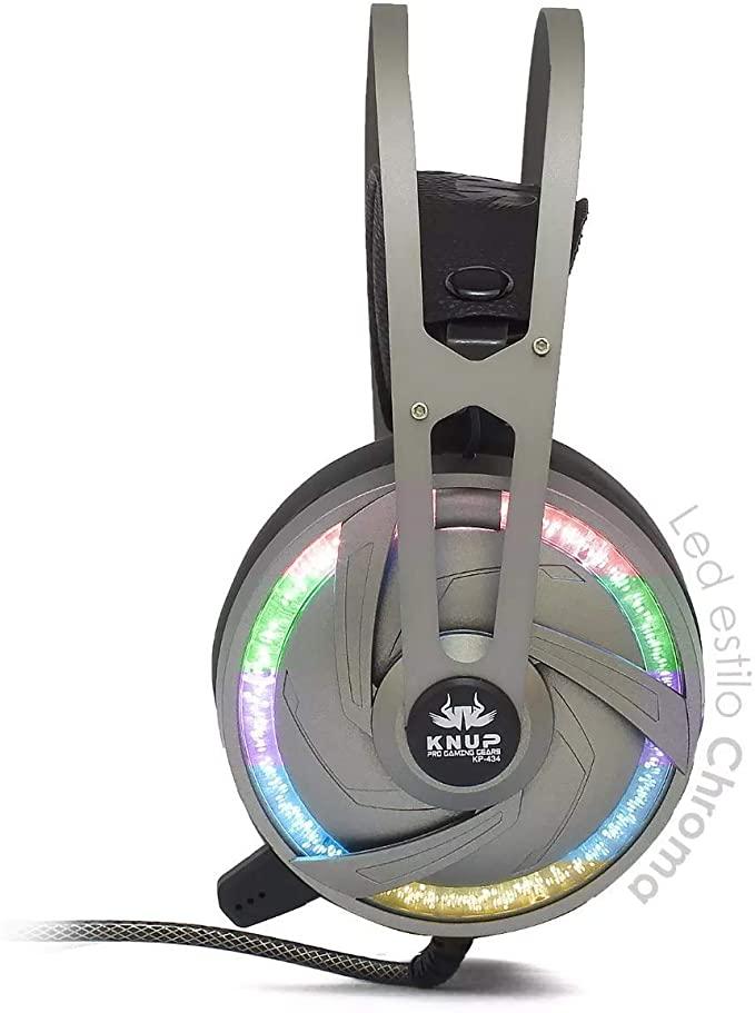 FONE DE OUVIDO HEADSET GAMER 7.1 PC LED COM MICROFONE KP - 434