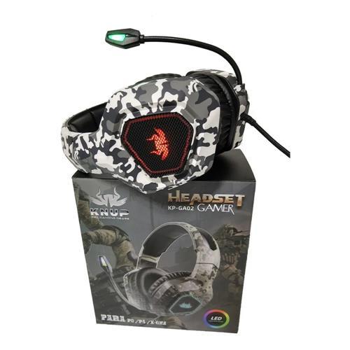 FONE DE OUVIDO HEADSET KNUP GAMER KP-GA02 PC/PS4/ONE CAMUFLADO