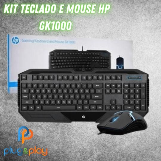 KIT TECLADO E MOUSE GAMER HP - GK1000