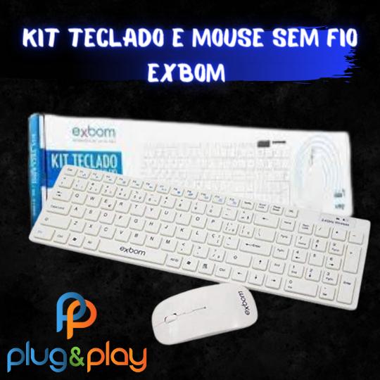 KIT TECLADO E MOUSE SEM FIO EXBOM BK - S1000