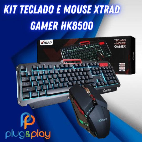 KIT TECLADO E MOUSE XTRAD GAMER HK - 8500