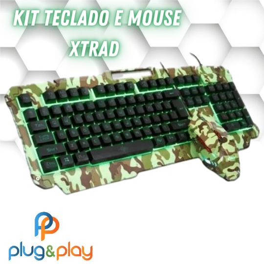 KIT TECLADO E MOUSE GAMER XTRAD HK -  8400