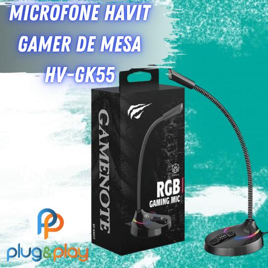 MICROFONE GAMER DE MESA PARA PC HAVIT