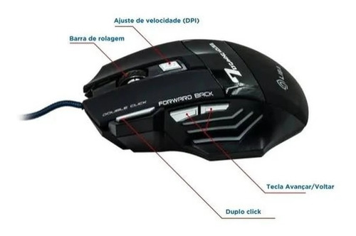 MOUSE GAMER BMAX X7