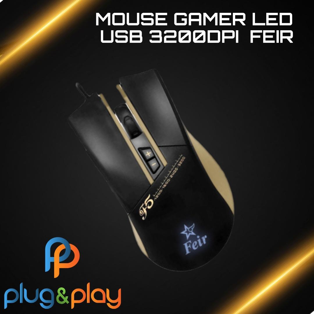 MOUSE GAMER LED USB FEIR - F5 DPI 3200