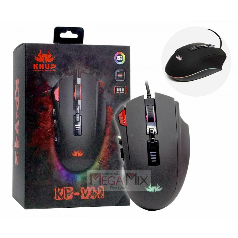 MOUSE GAMER USB KNUP KP - V42