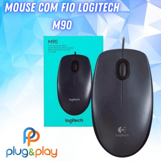 MOUSE LOGITECH COM FIO M90