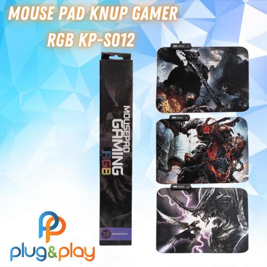 MOUSEPAD KNUP GAMER PEQUENO ESTAMPADO RGB KP-S012 35X25
