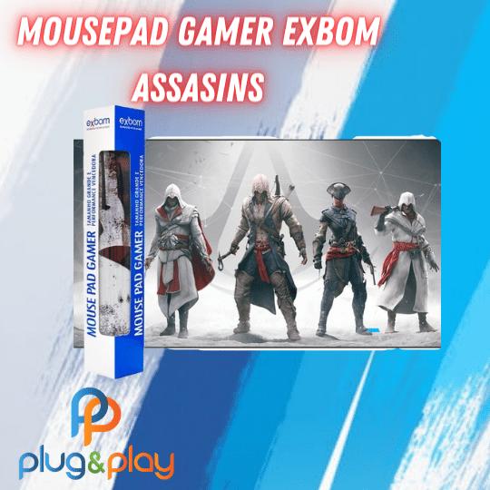 MOUSEPAD GAMER EXTRA GRANDE EXBOM ESTAMPADO  (ASSASSINS )