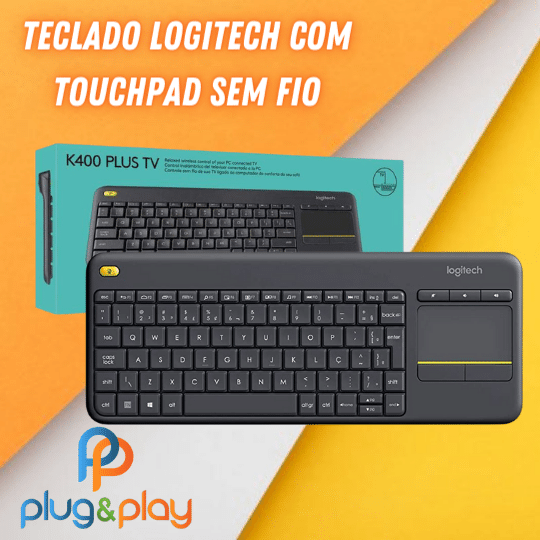 TECLADO COM TOCHPAD LOGITECH K400 S/FIO