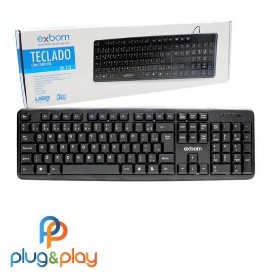 TECLADO EXBOM USB BK-102
