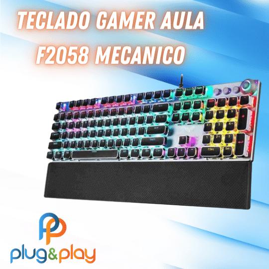 TECLADO GAMER AULA MECANICO F2058 MECANICO