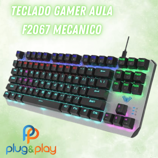 TECLADO GAMER MECANICO AULA F2067