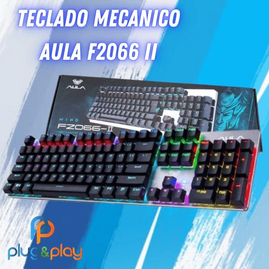 TECLADO GAMER MECANICO USB LED F2066 II- AULA