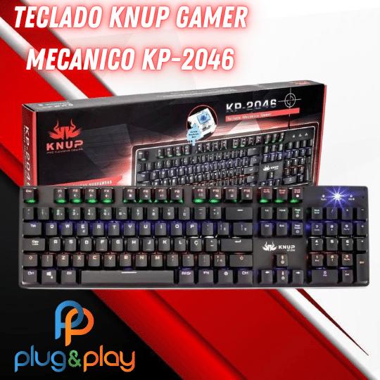 TECLADO KNUP GAMER MECANICO KP-2046