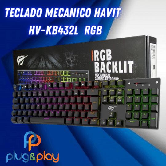 TECLADO MECANICO HAVIT  HV-KB432L  RGB