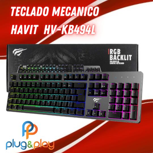 TECLADO MECANICO HAVIT  HV-KB494L  RGB