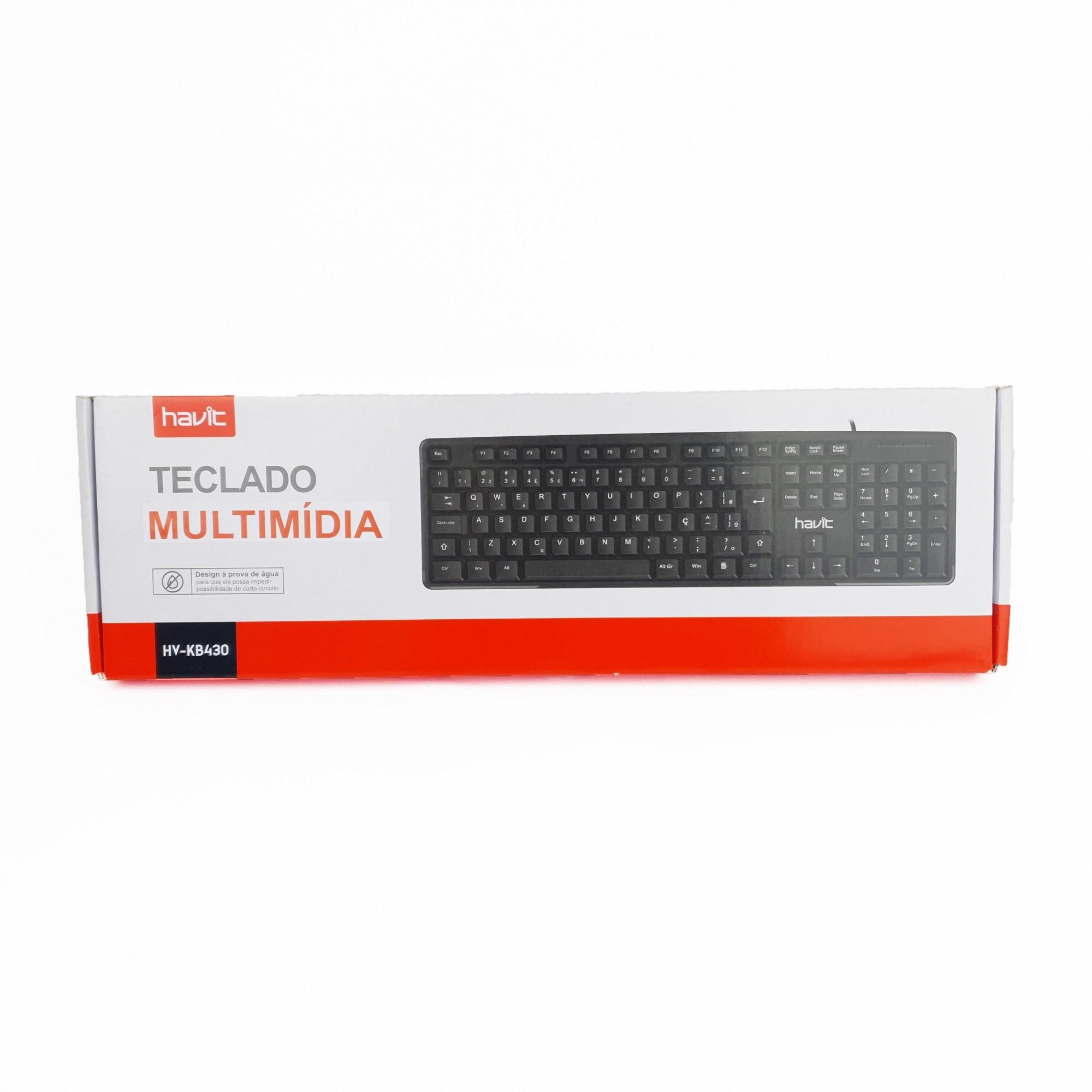 TECLADO MULTIMÍDIA HAVIT HV-KB430 ABNT2