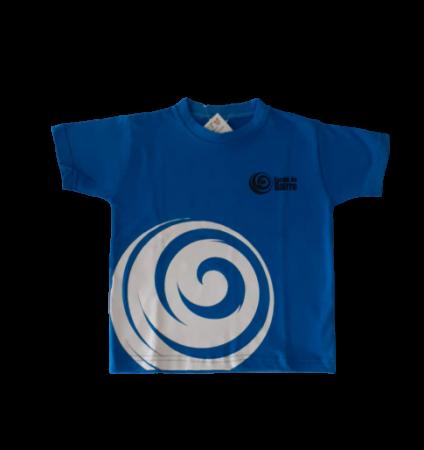 Camiseta Manga Curta Azul